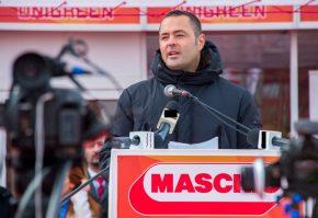 Mirco Maschio_Administratorul companiei_deschidere stand MGR_ INDAGRA 2014