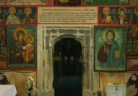 Manastirea din Borzesti - detaliu