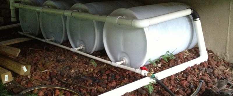 Dispozitive de captare si depozitare a apei de ploaie