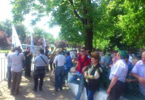 protest fanfara fermieri