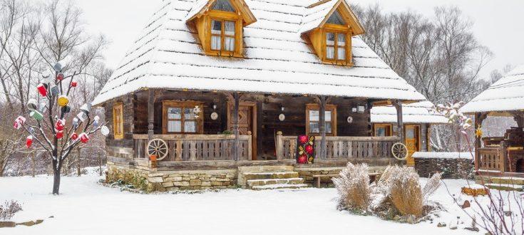 casa, iarna